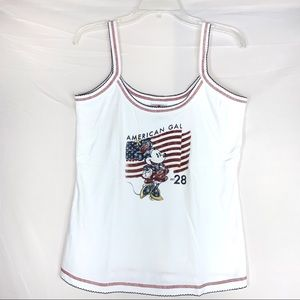 Disney Store Minnie Mouse American Gal Tank Top